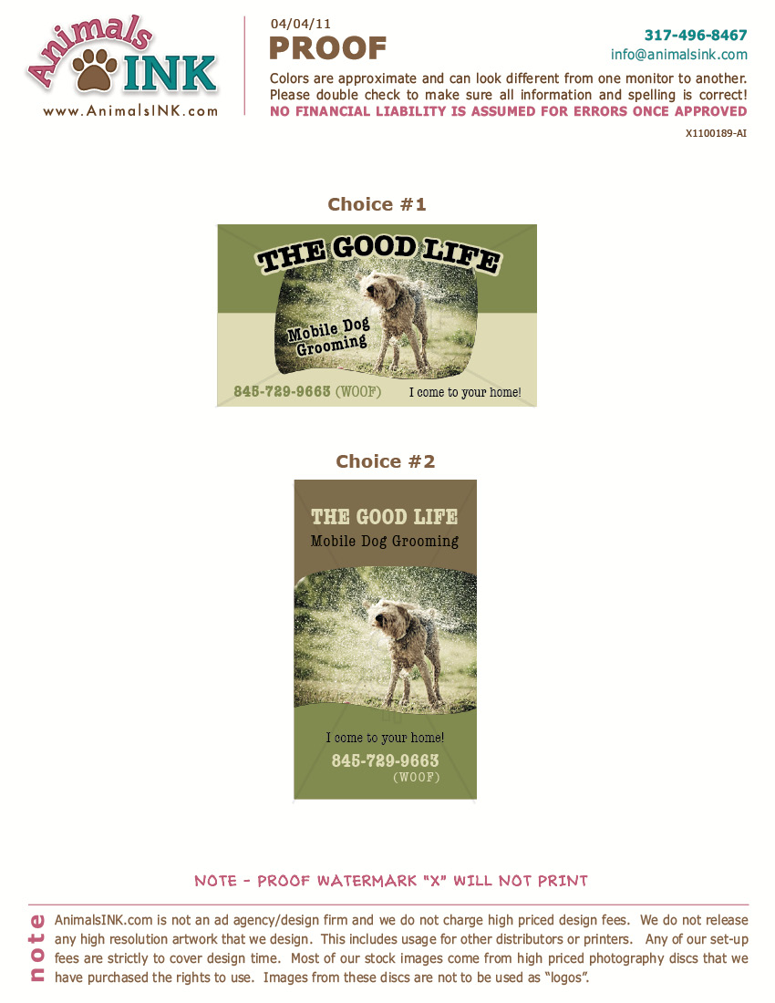 business-card.jpg | The Good Life Mobile Dog Grooming